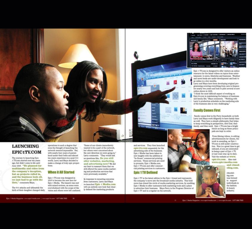 Publishing Epic1media Magazine
